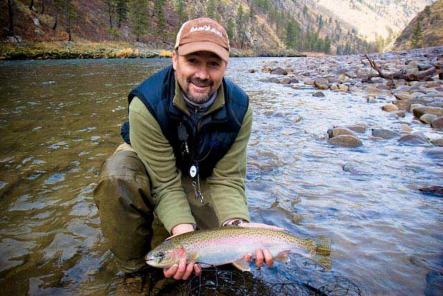 Brother JT with Rainbow Trout