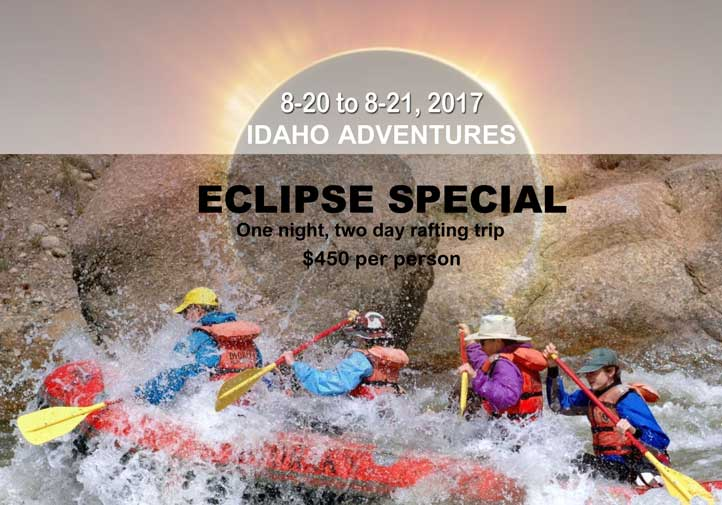 Solar Eclipse Special 2-Day / 1-Night River Rafting Trip