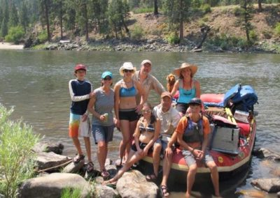Group rafting