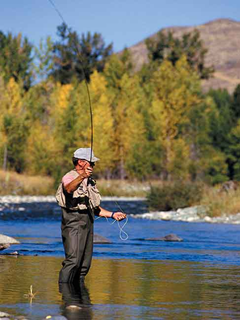 Fly fishing on the Lemhi River