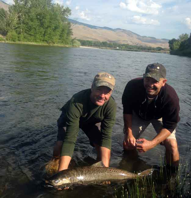 Mark and Rich with their Salmon