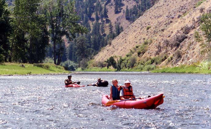 Kayaking on Salmon River Float Trip