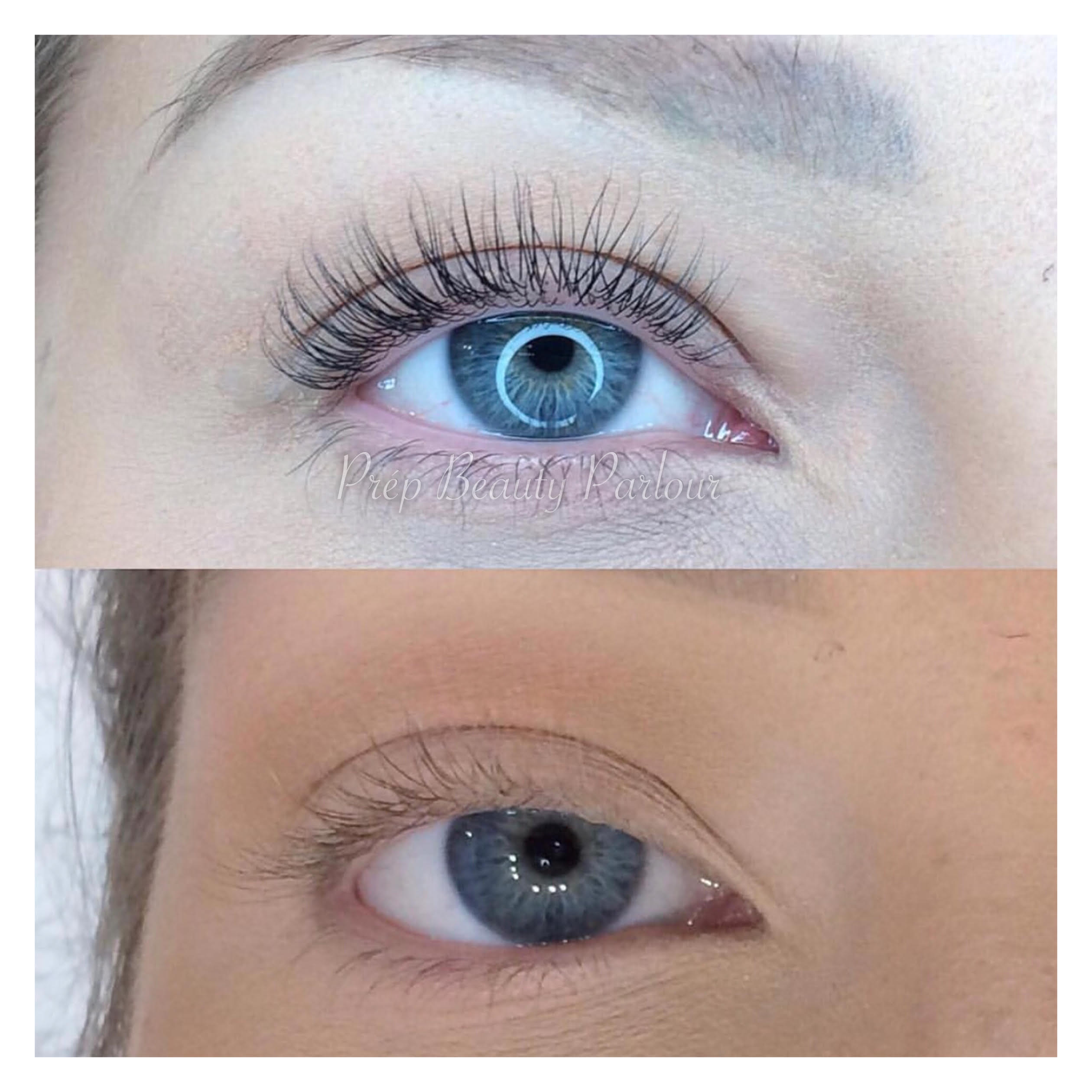 Lash lift and tint in Vancouver at Prép Beauty Parlour