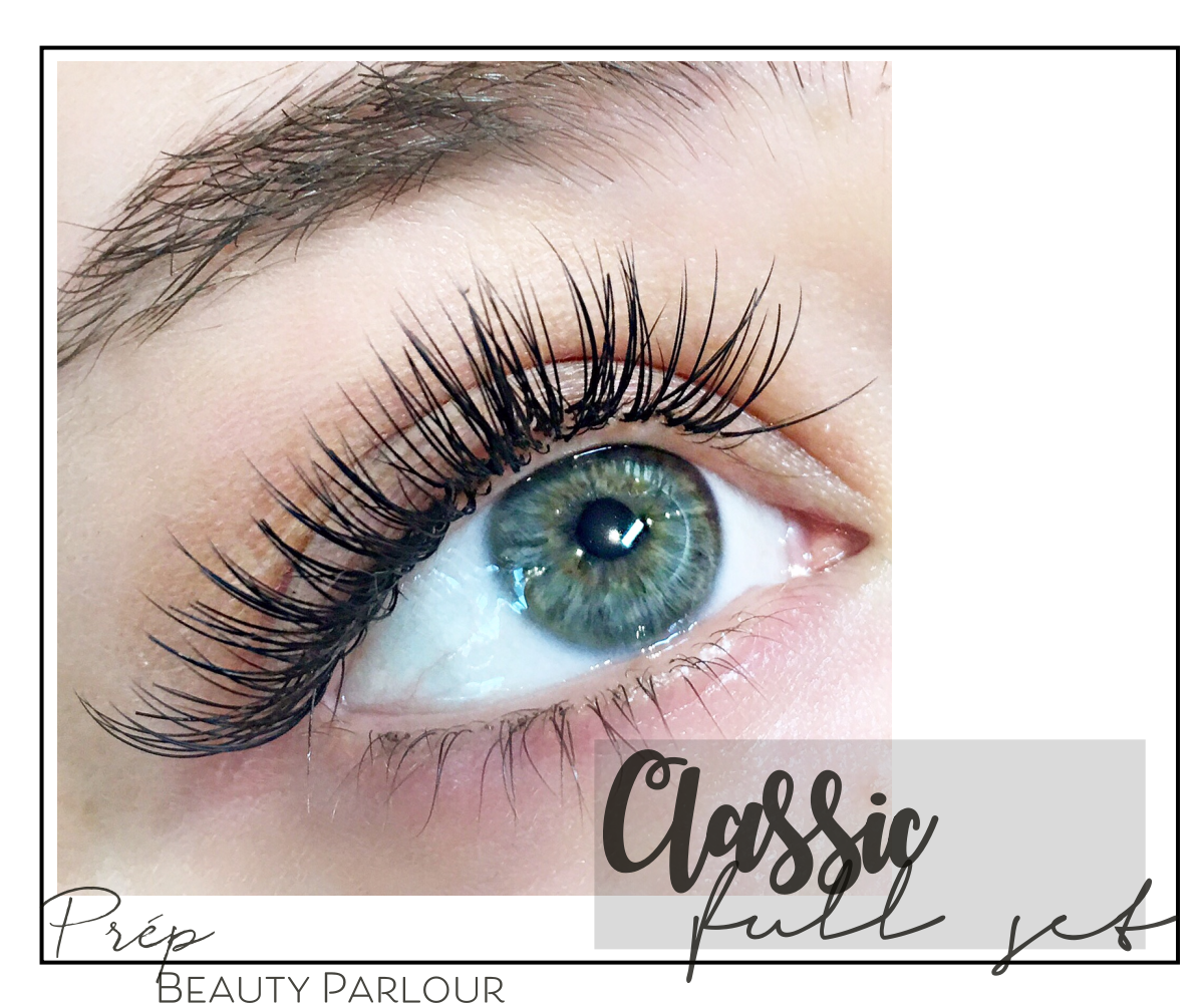 Best Classic Full Set Eyelash Extensions Vancouver |Prép Beauty Parlour