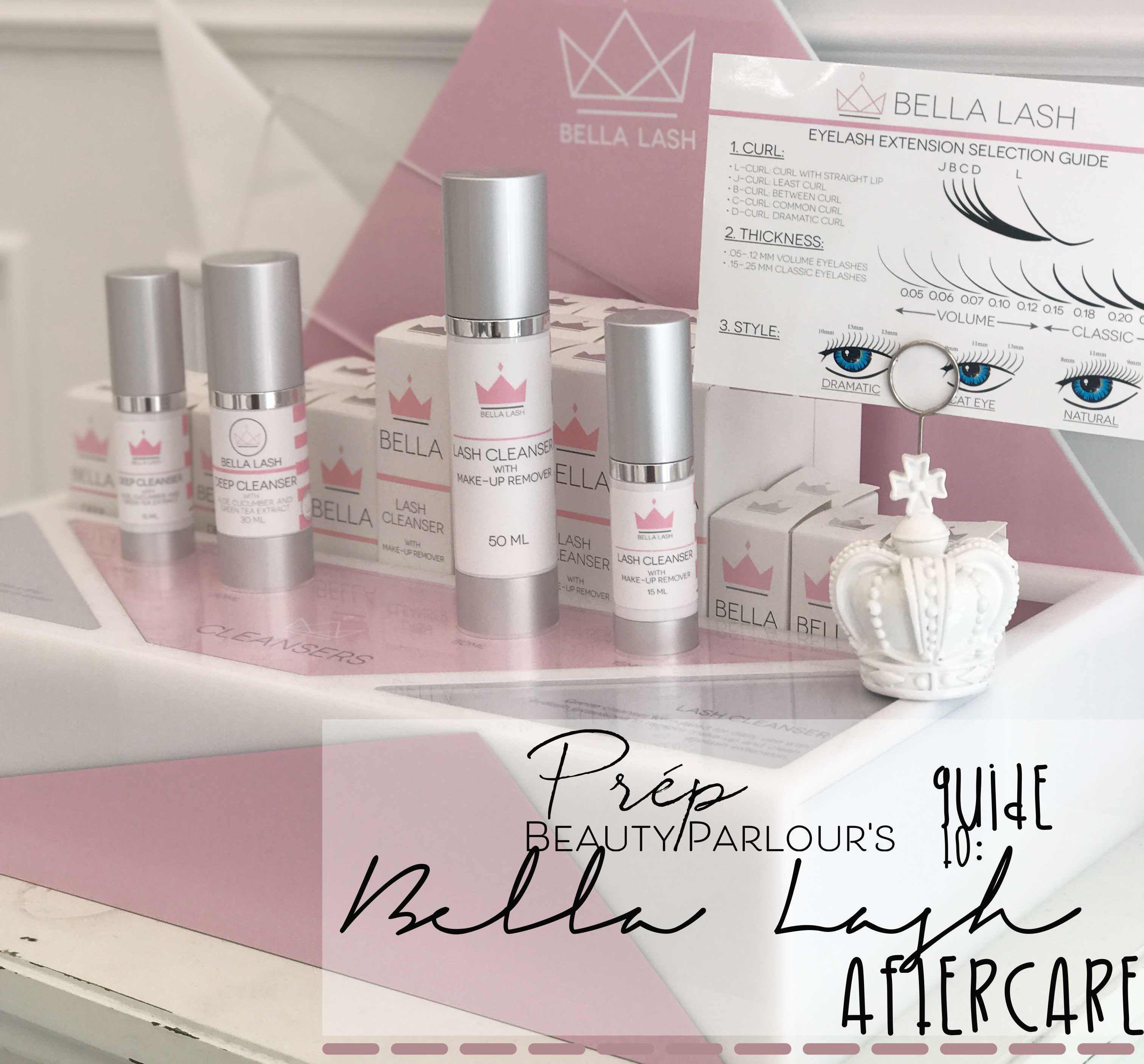 Prép Beauty Parlour Bella Lash Extensions Aftercare
