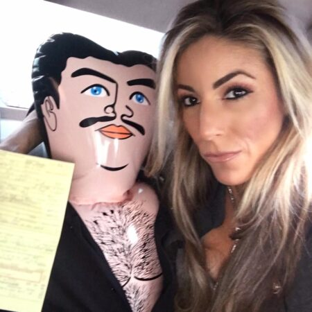 lauren pacheco and her blow up doll pablo