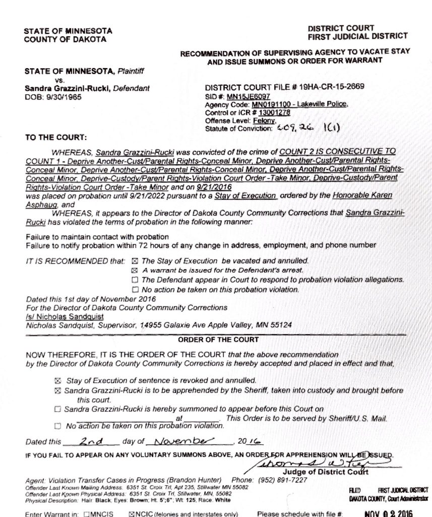 ArrestwarrantSandraGrazziniRucki11022016