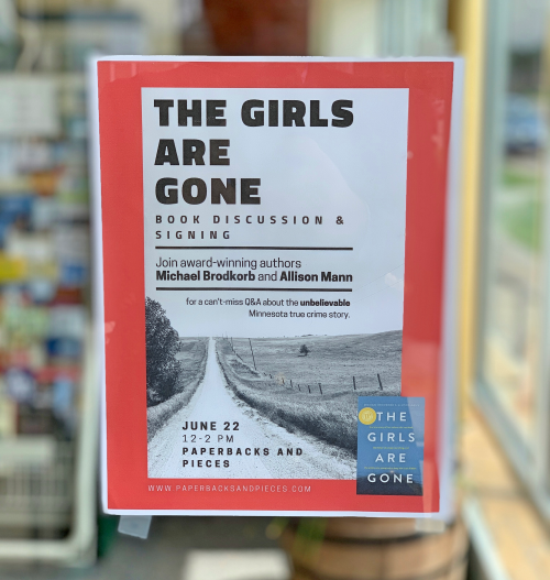 Book event on Saturday at Paperbacks and Pieces in Winona
