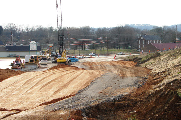 Maury County I-Beam Bridge construction