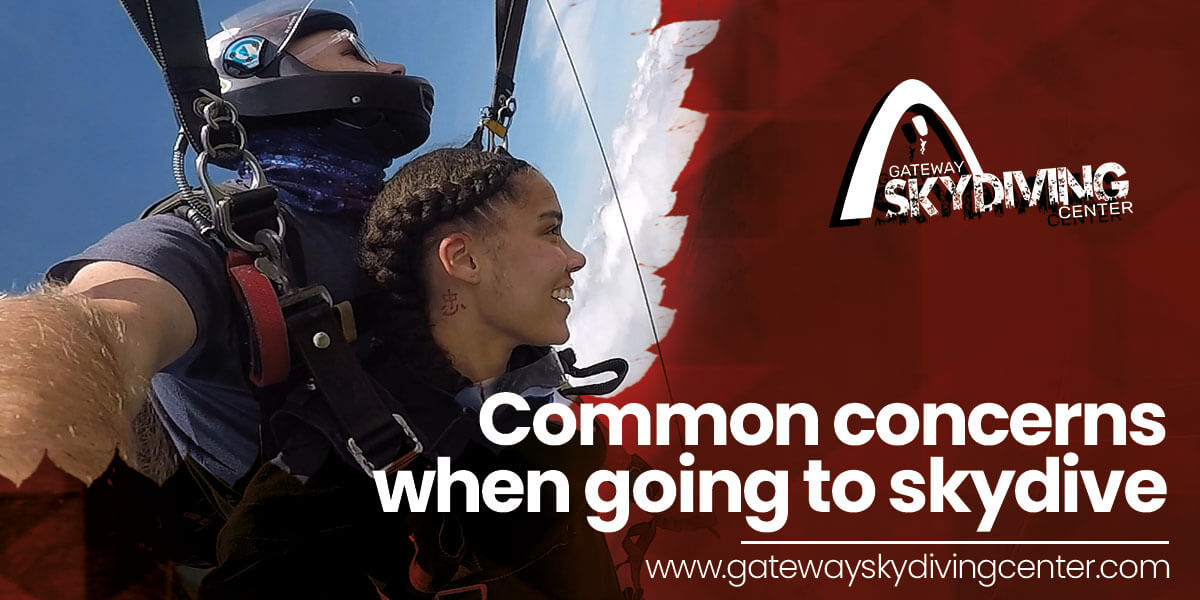 Common concerns when going to skydive