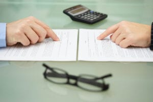 chapter 13 bankruptcy payment plan calculator being prepared by an attorney