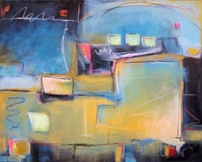 Urban Blue' 40x50 Acrylic on Canvas © Karen Bandy