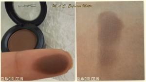 M.a.c eye shadow in espresso matte review