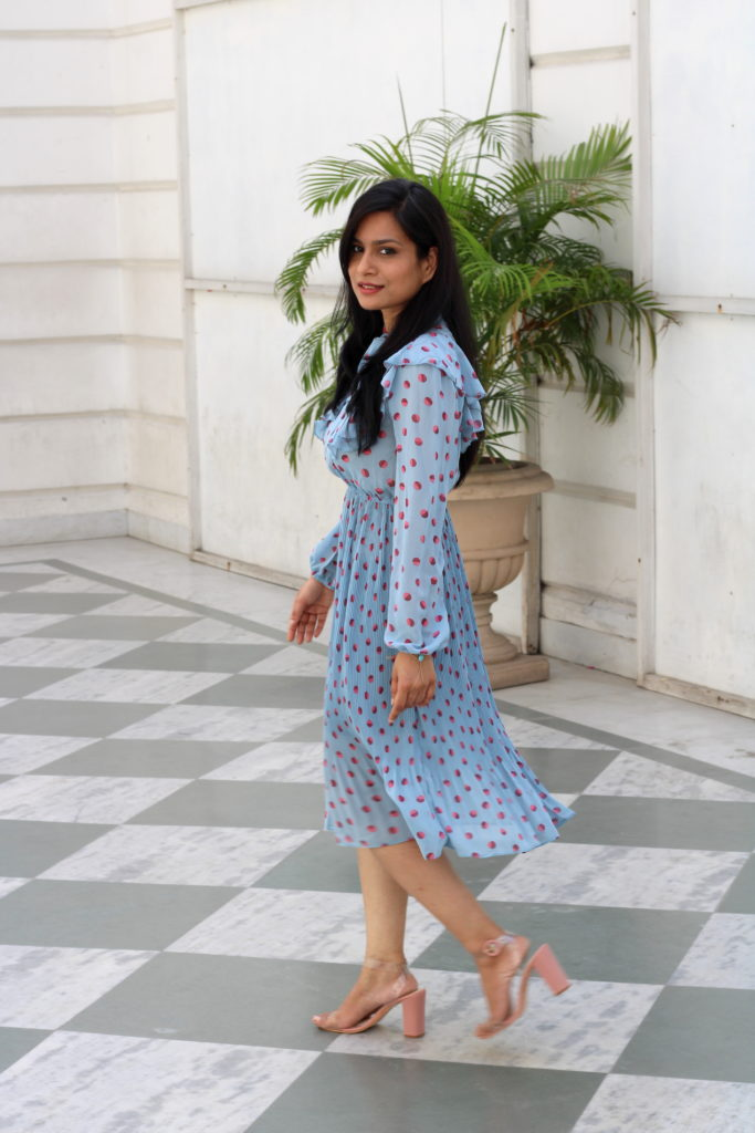 styling polka dots dress