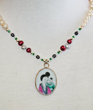 Chinese Ming Pottery Necklace