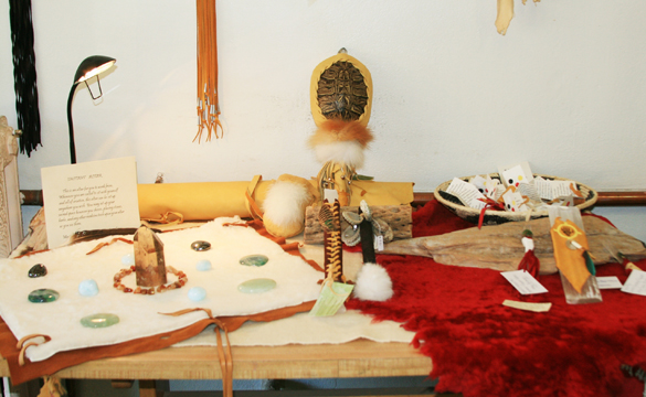 Instant Altar: Turtle Shell Rattle, Selenite Wands, Basket and Earth Bundles