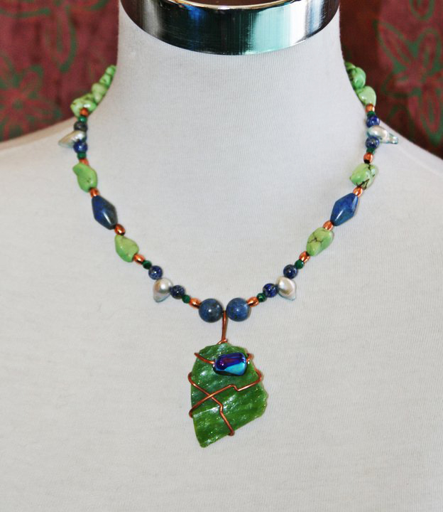 Stained Glass Necklace