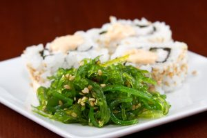 Seaweed-Salad-And-Sushi