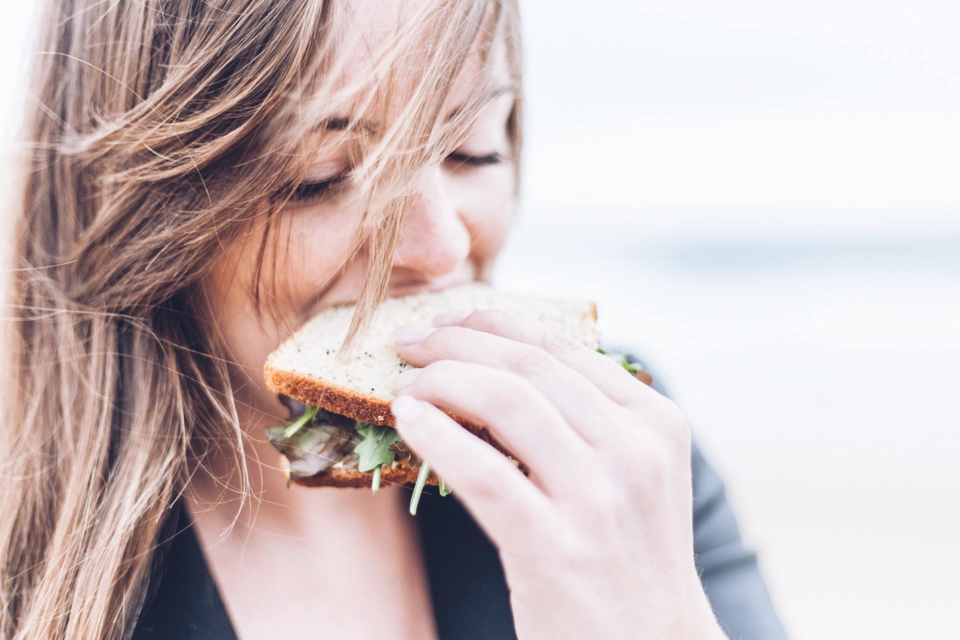 Eating Sandwich