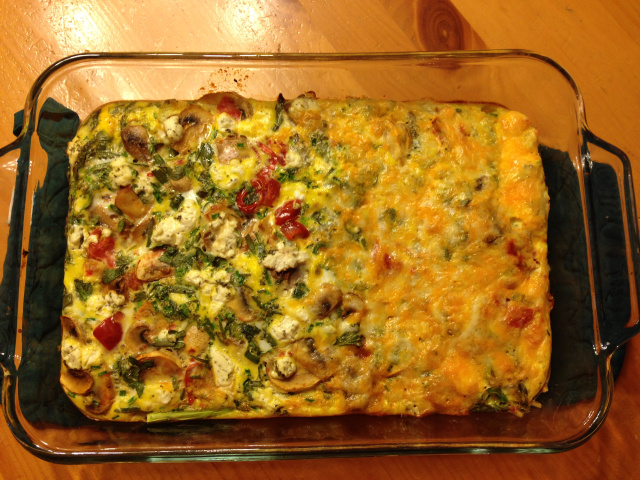 Egg bake, holiday, nutrition, recipe, healthy, weight
