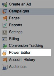 lets begin facebook power editor
