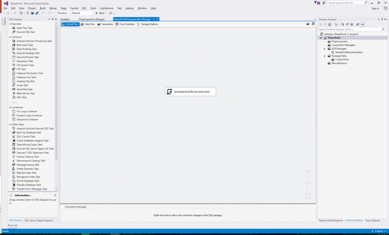 Accessing a File via SSIS