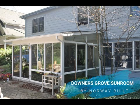 Sunroom addition in Downers Grove, Illinois.