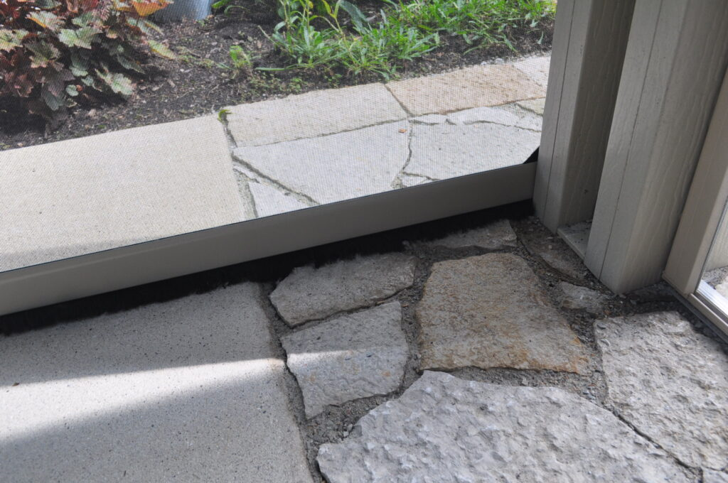 Concrete and stone walkway