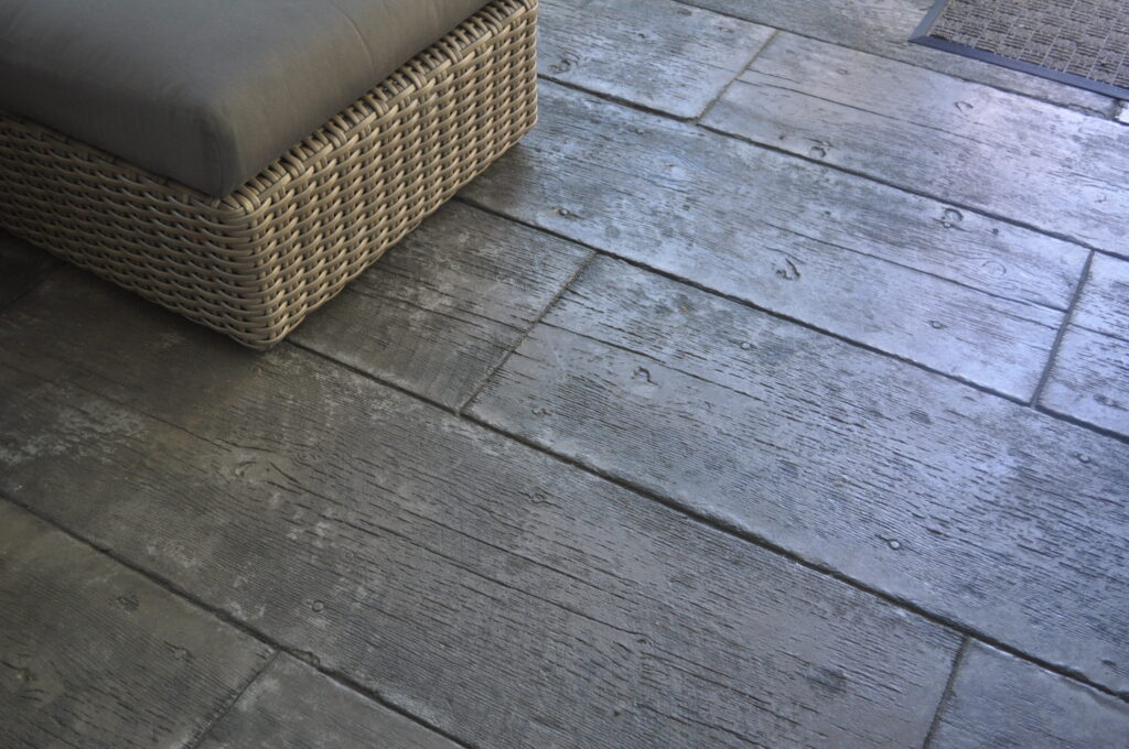 Sunroom Stamped Concrete