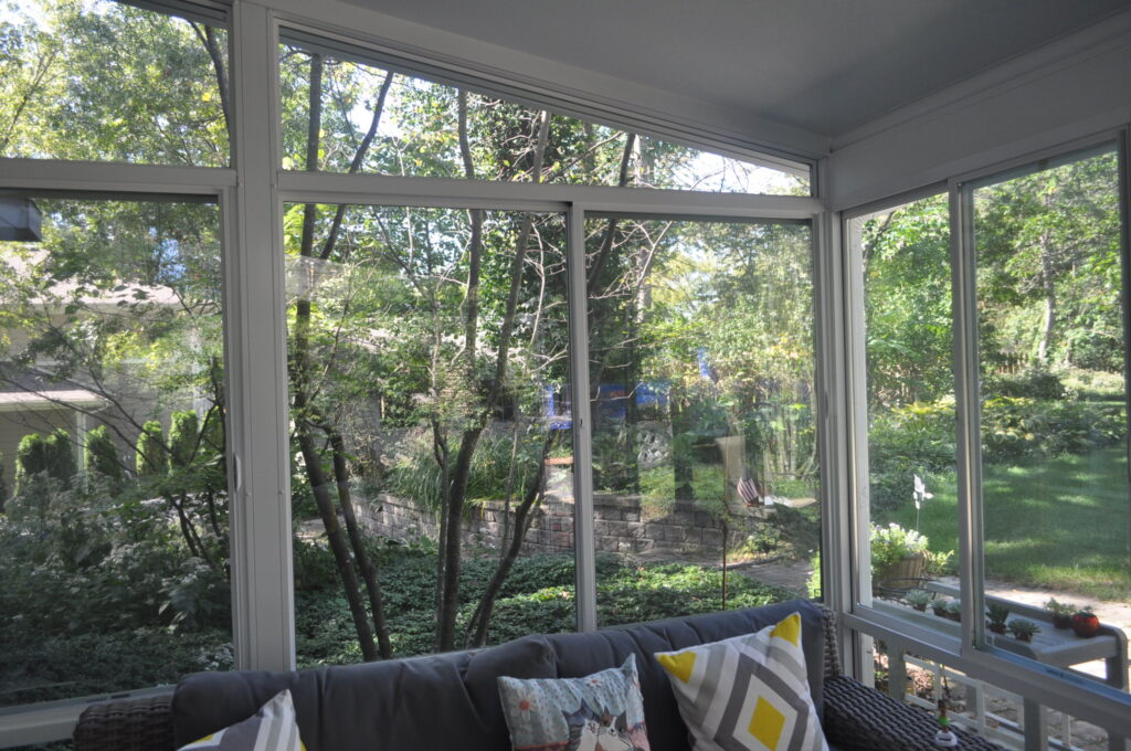 Sunroom view looking into backyard