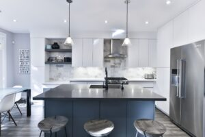 Blue cabinetry