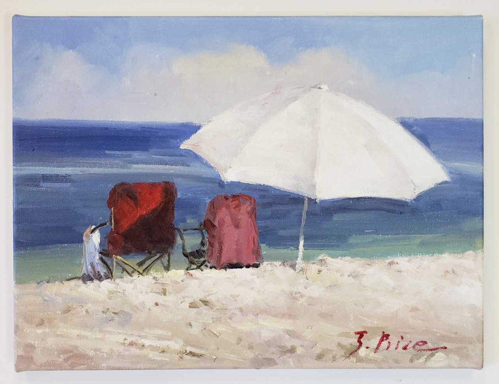 beach picture oil painting