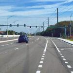 Newly paved asphalt and sidewalks along 44th Avenue East