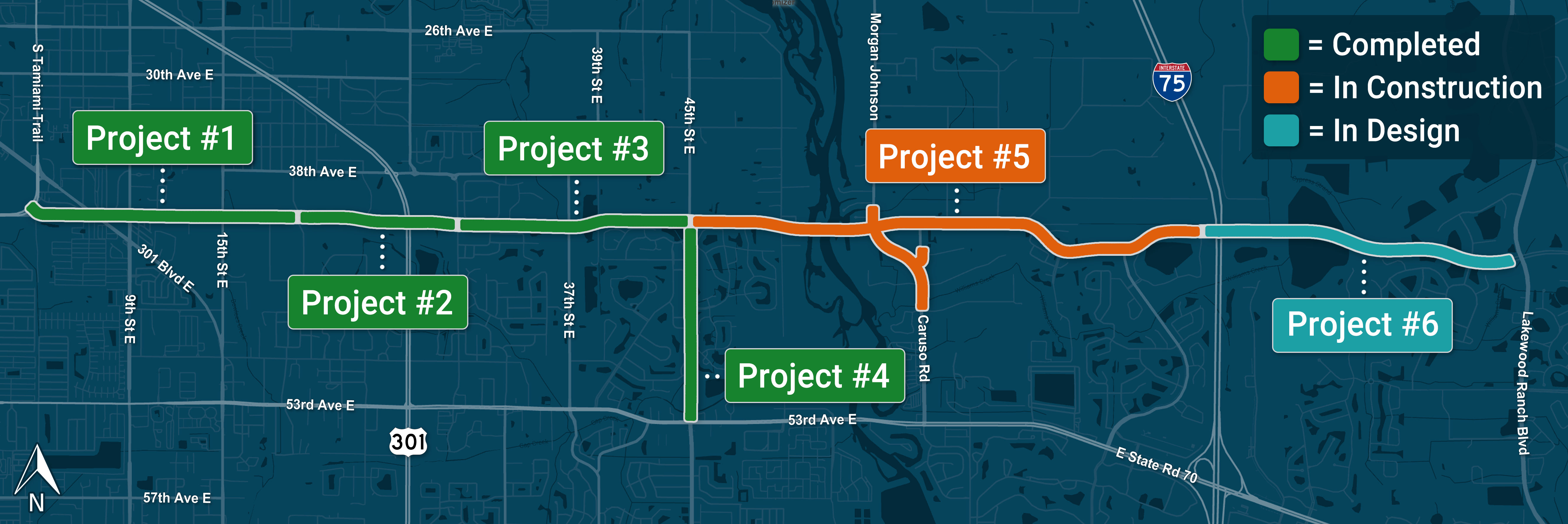 44th Ave East Extension Projects Overview Map
