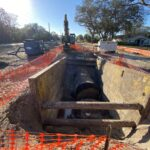 Installing the storm sewer system near 62nd Street East