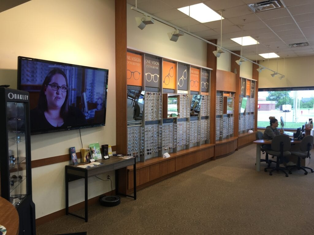 BA vision clinic with a large selection of frames and a n Eye Doctor Coweta