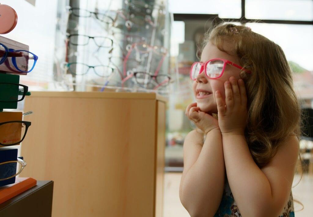 Pediatric patient with glasses in Broken Arrow