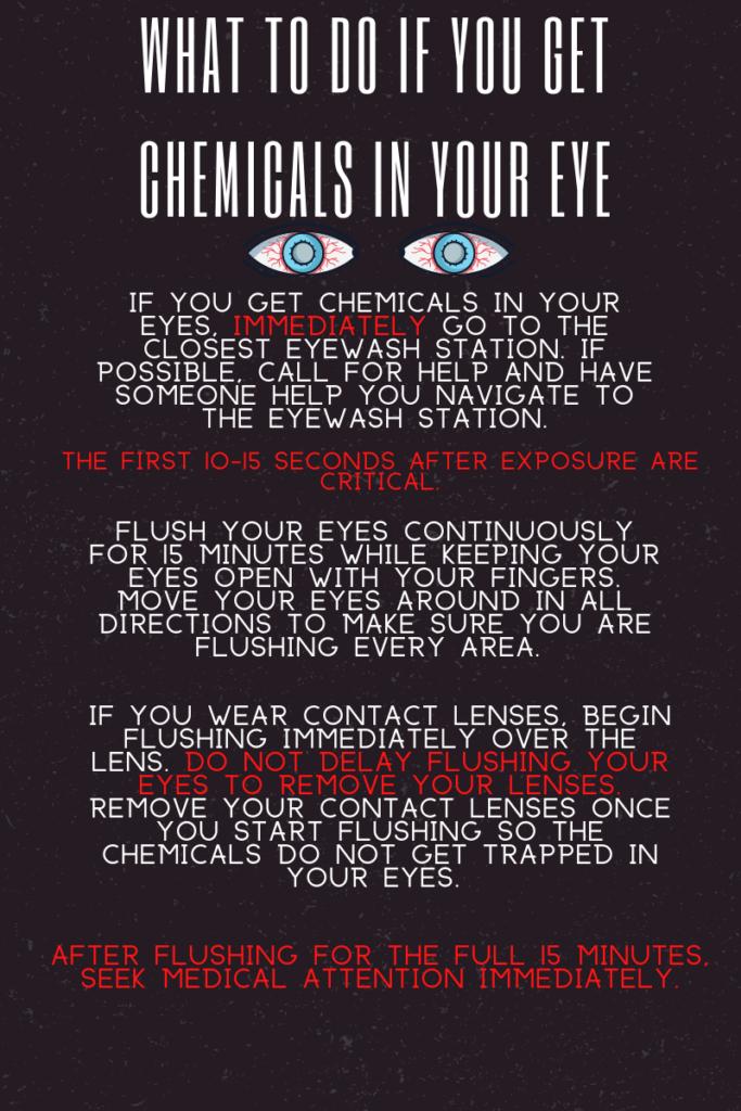 Chemical in eye