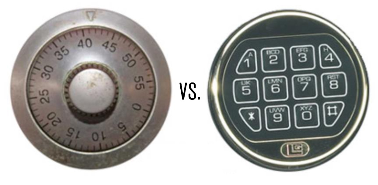 Locksmith Sarasota Mechanical Dial Locks vs Electronic Keypad Locks