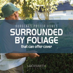 Burglars Prefer Homes That Are Covered By Foliage - Locksmith Sarasota