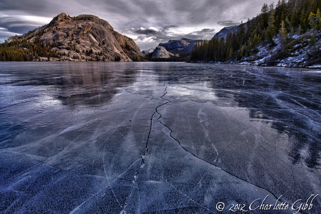Frozen Tenaya Lake