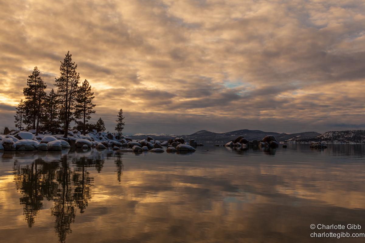 Lake Tahoe Winter Sunset