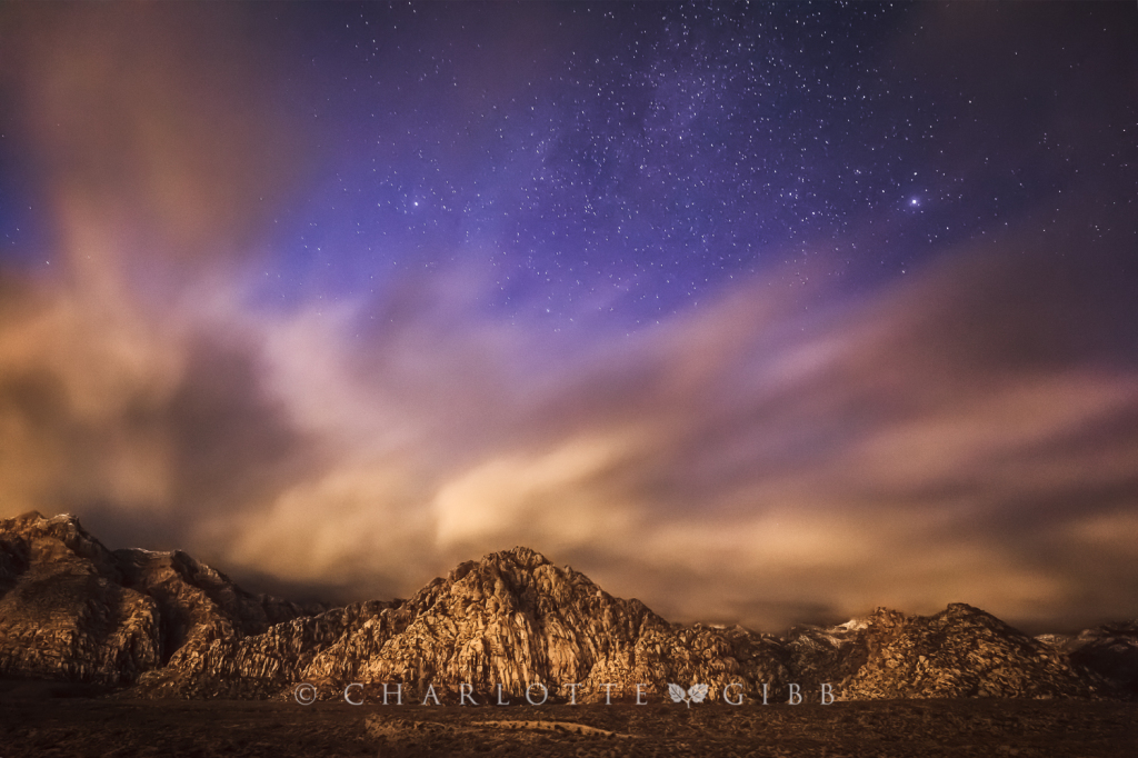 Desert Storm and Stars, Red Rock Canyon National Conservation Area, December 2014