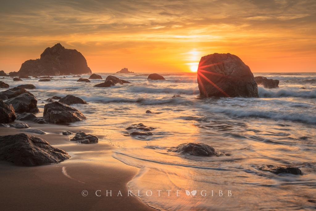 Sunset and Seastacks, June 2014