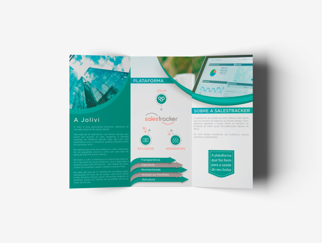Criação de layout de folder para Jolivi