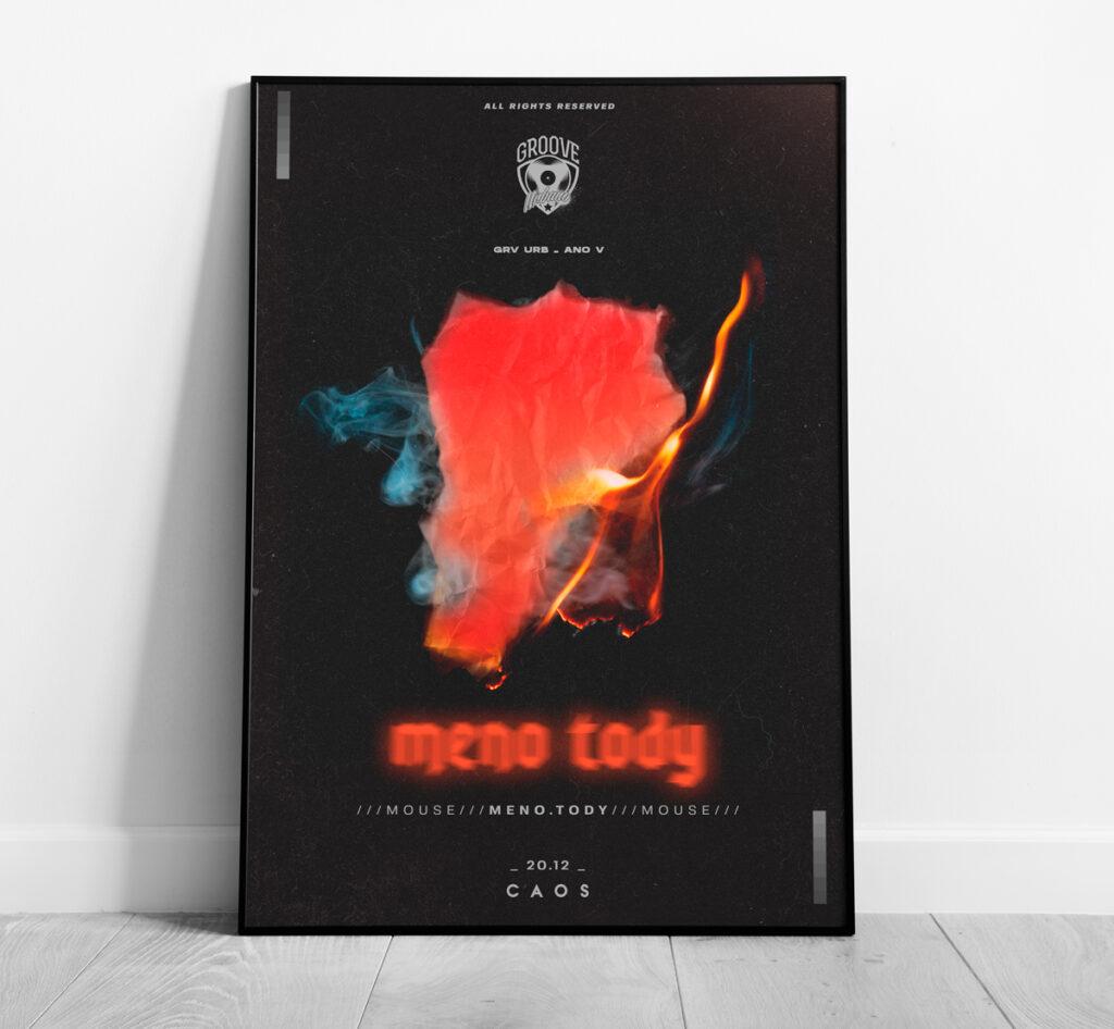 design de poster para festa