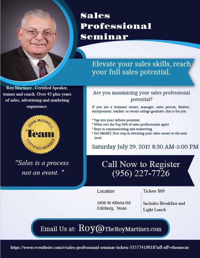 Roy sales seminar july 29