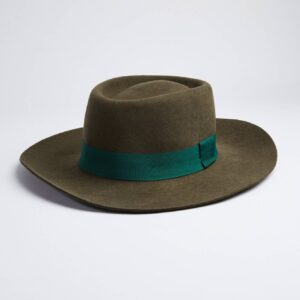 Valencia Country Style Green Felt Hat