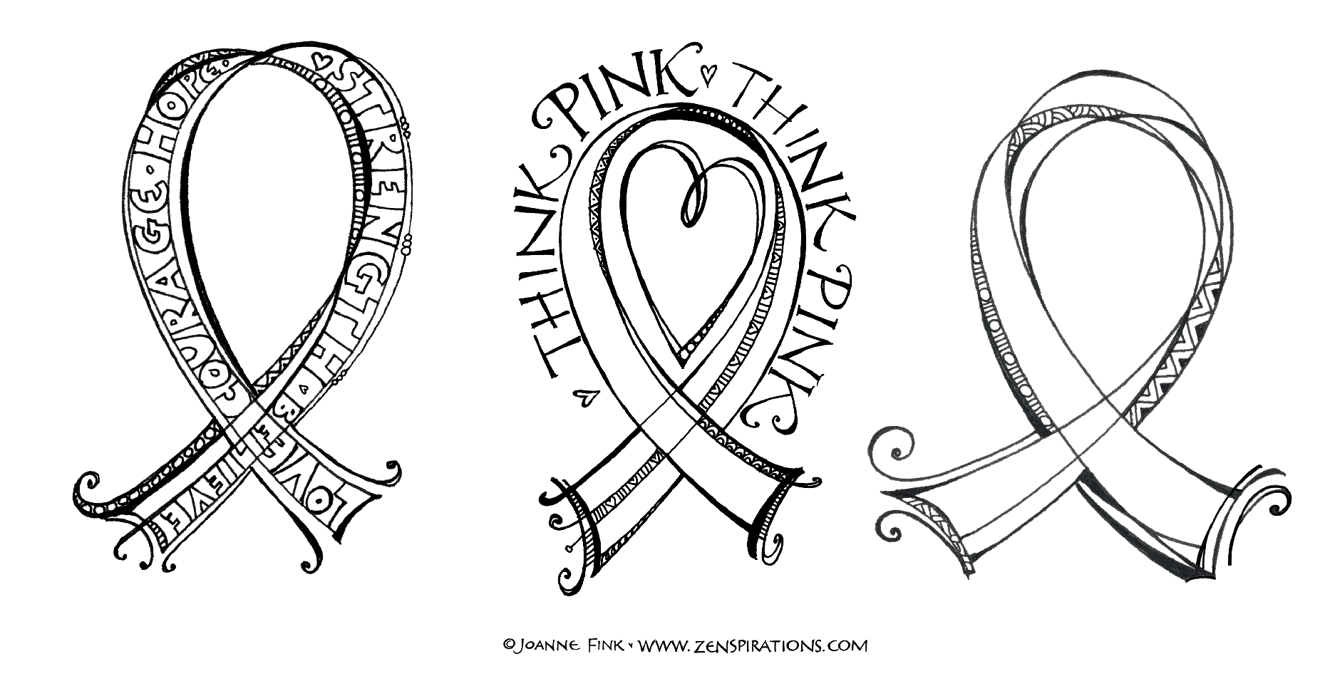 - Think Pink! Free Downloadable Coloring Pages! - Zenspirations