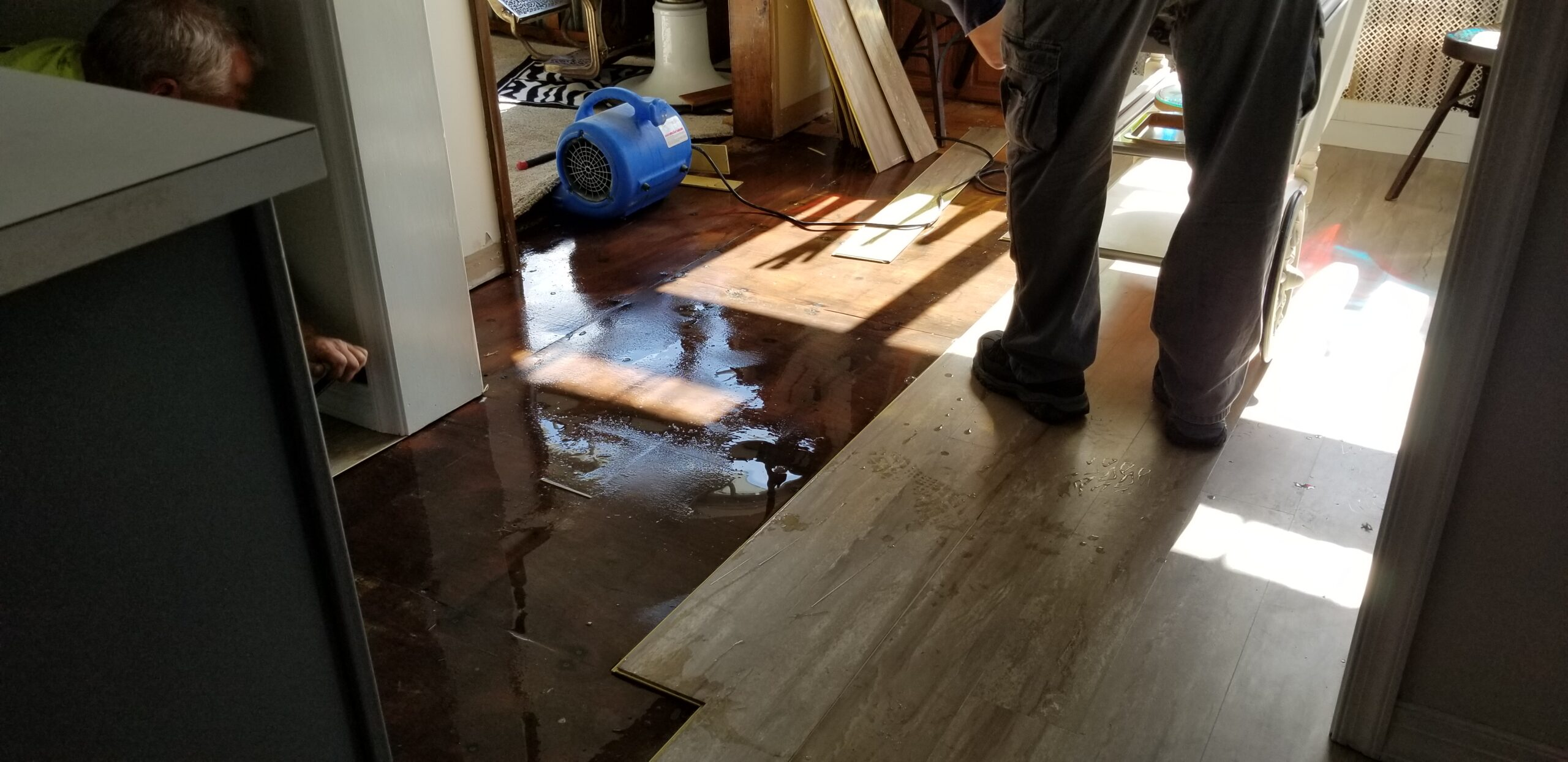 wet subfloor